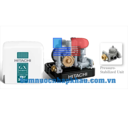 Máy bơm tăng áp tự động vuông Hitachi WM-P200GX2-SPV-WH
